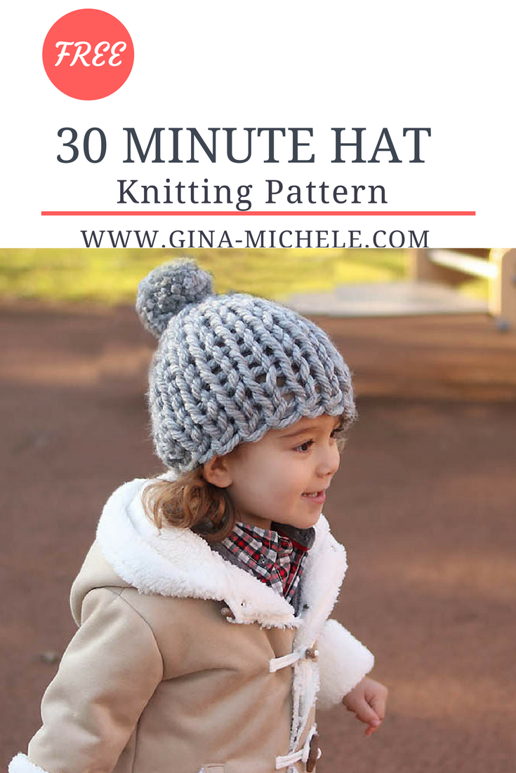 FREE knitting pattern for this 30 Minute Hat. It\'s knit flat, so ...