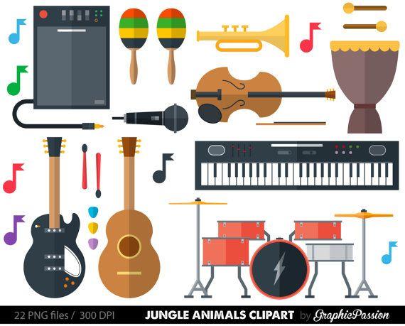 musical instrument clipart clip art music clipart music clip art rh pinterest com music instruments clipart free musical instrument clipart free