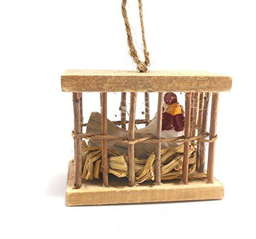 Hen in a Wooden Crate Ornament