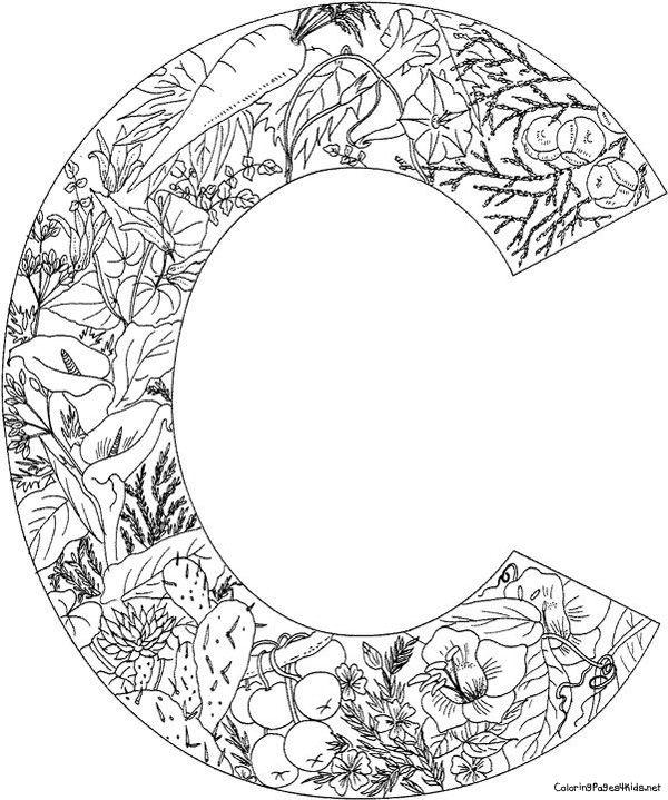 Cplants Jpg 600 719 Pixels Coloring Letters Alphabet Coloring