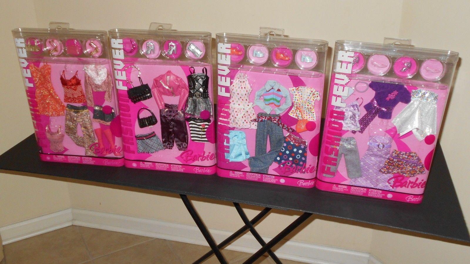 Details Over 4 Fashion Fever Barbie Doll Fashion Clothes Closets 2006 New Barbie Doll Accessories Vintage Barbie Clothes Barbie Dolls