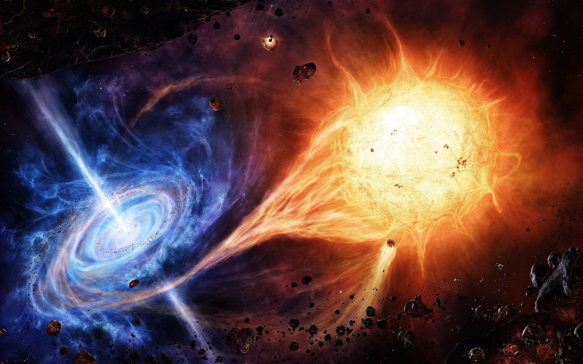 Outer Space Stars Black Hole Asteroids Disasters Quasar Space Wallpaper 1772276 Wallbase Cc Black Hole Wallpaper Nebula Space Pictures