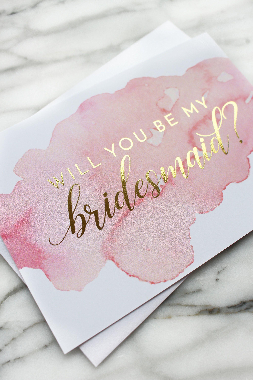 Will You Be My Bridesmaid Cards Bridesmaid Proposal Card Will You Be My Bridesmaid