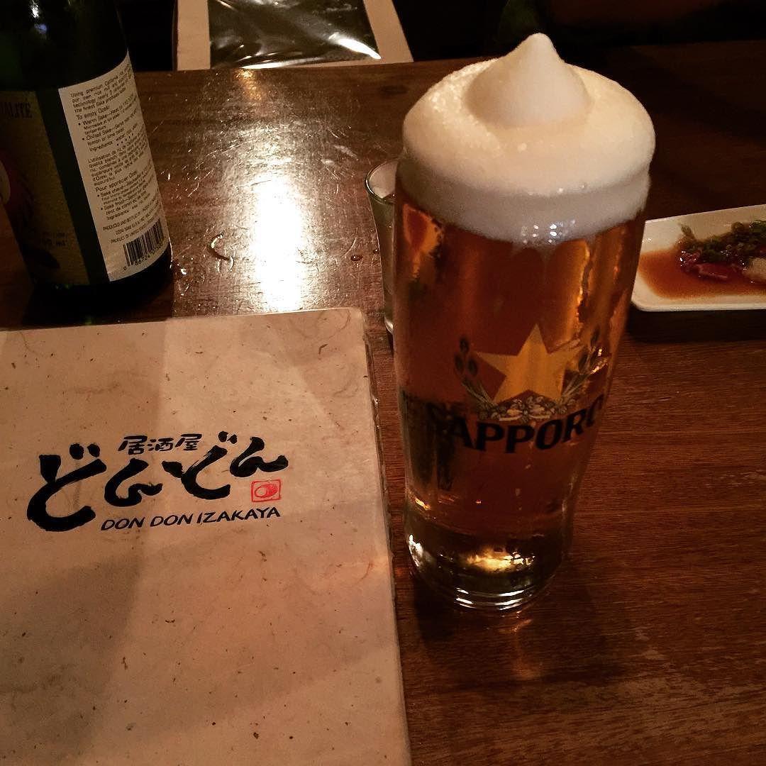 . . . . #toronto#downtown#izakaya#beer#tuna#tataki#foodstagram#instafood#calories#l4l#토론토#먹스타그램#거품이#뾰족 by grace.hyeji