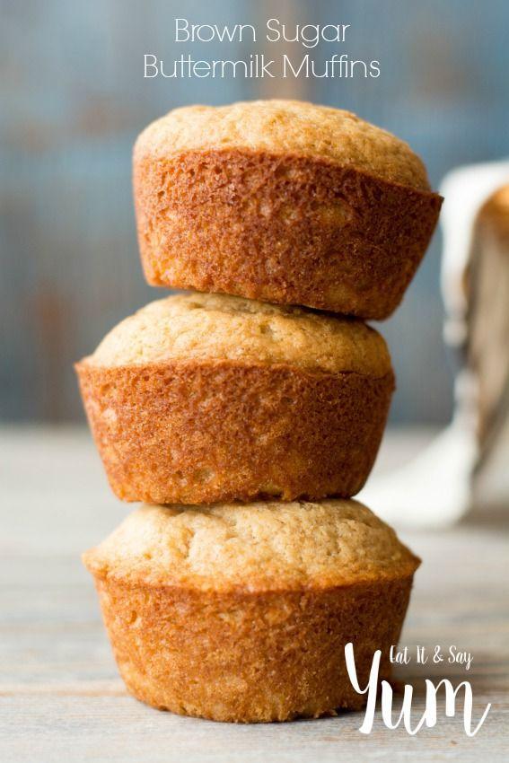Brown Sugar Buttermilk Muffins Recipe Buttermilk Recipes Buttermilk Muffins Breakfast Muffin Recipes