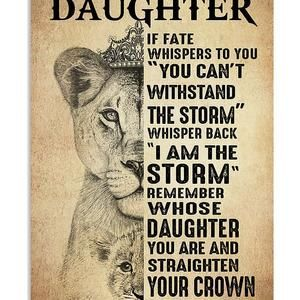 To My Daughter Vintage Poster, Family Poster, Unfr