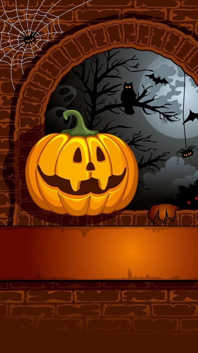 Halloween Backdrop 7x5ft Trick or Treat Photography Background Orange Wall Horror Eyeball Grimace Pumpkin Zombie Spider Candy Hallowmas Holiday Autumn Horror Party Decor Portrait Shoot