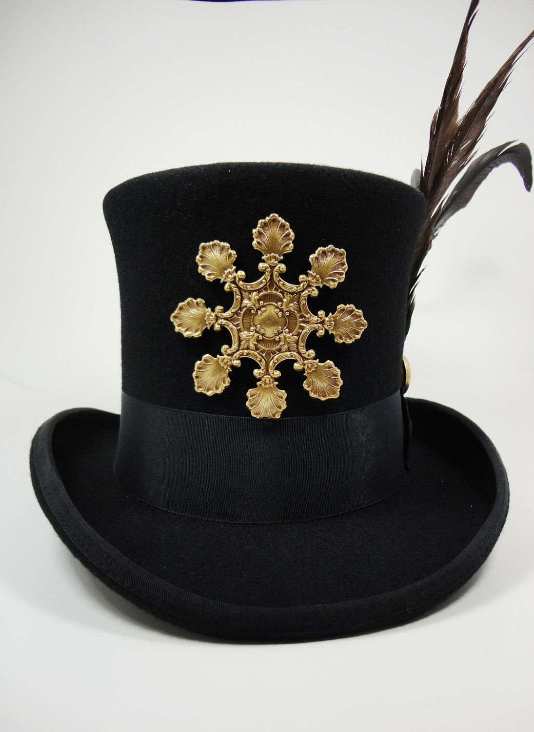 SteamPunk Top Hat Black X-Large