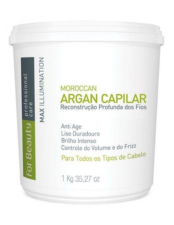 Creme Alisante Capilar Btox Max Illumination Argan Oil For Beauty 1Kg