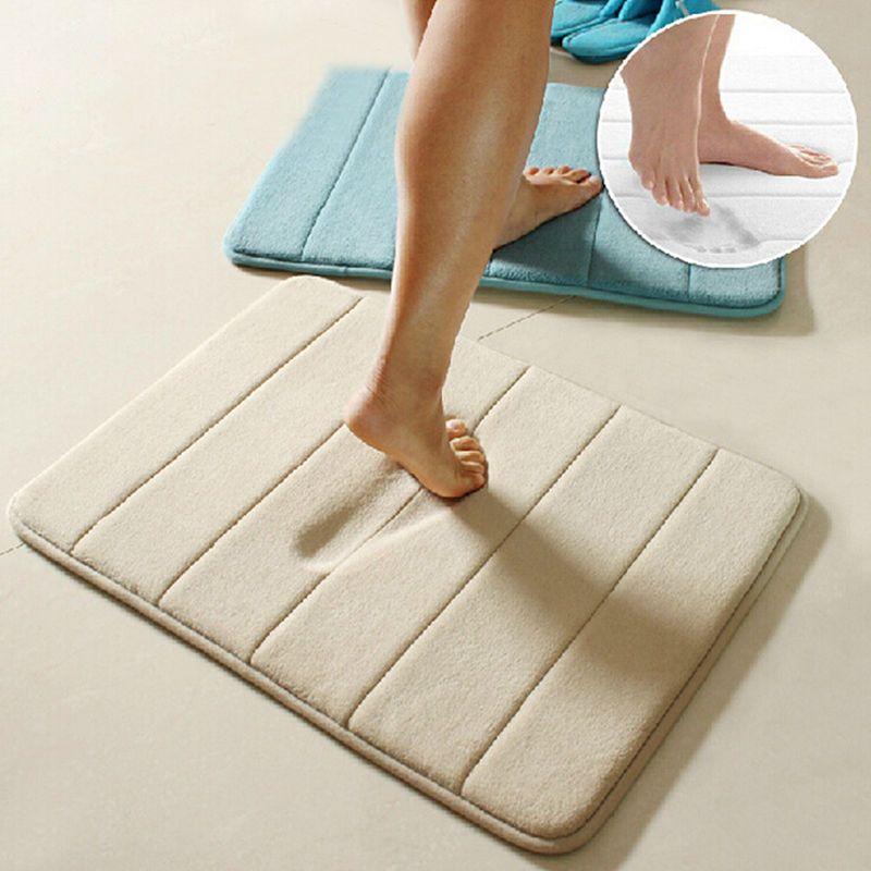 4 28 Memory Foam Bath Mat 4060 Absorbent Slip Resistant Pad