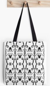 Too Many Faces Many Faces totes Cool tote bag design pattern for college or organizer Cute style fashion gift for beach laptop use This image has get 0 repins Author Embl...