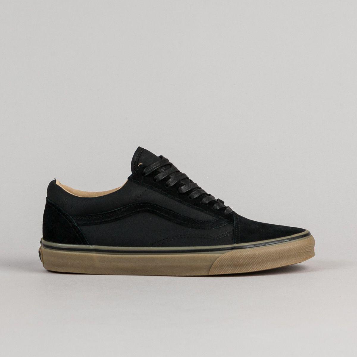 Skool Shoes Vans Black Coated Dx Medium Gum Old Reissue F3TlKJc1