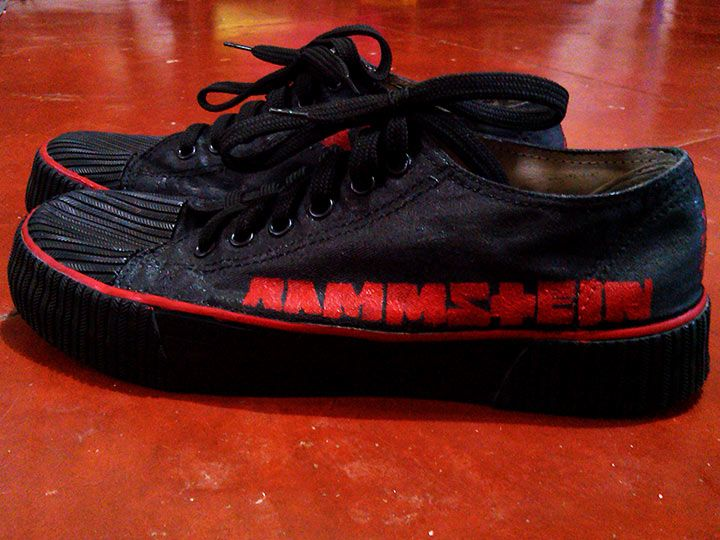 huge discount cd702 bcebe My home-made recycled RAMMSTEIN painted shoes. The original ...