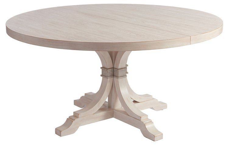 Magnolia Extension Dining Table Whitewash Round Dining Table