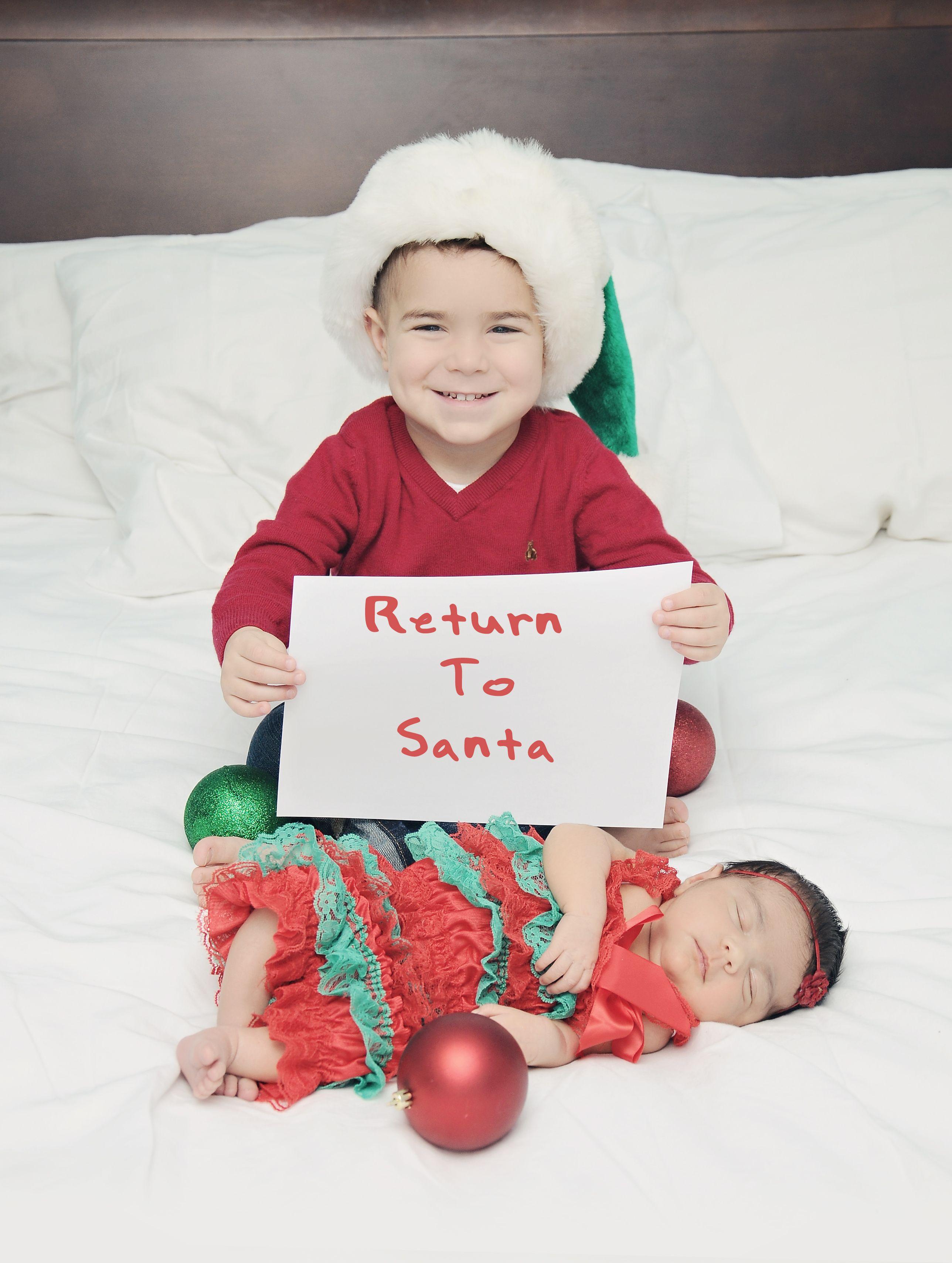 Funny Sibling Christmas photo
