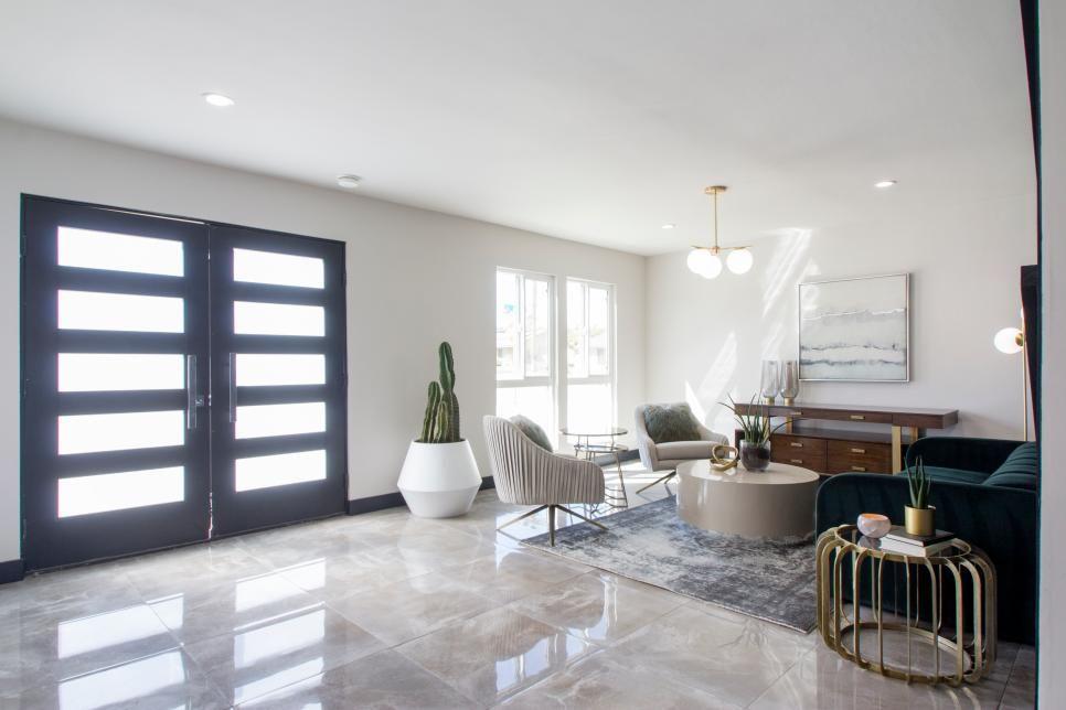 Interesting Doors For Inside 25 Hgtv Living Room Makeovers