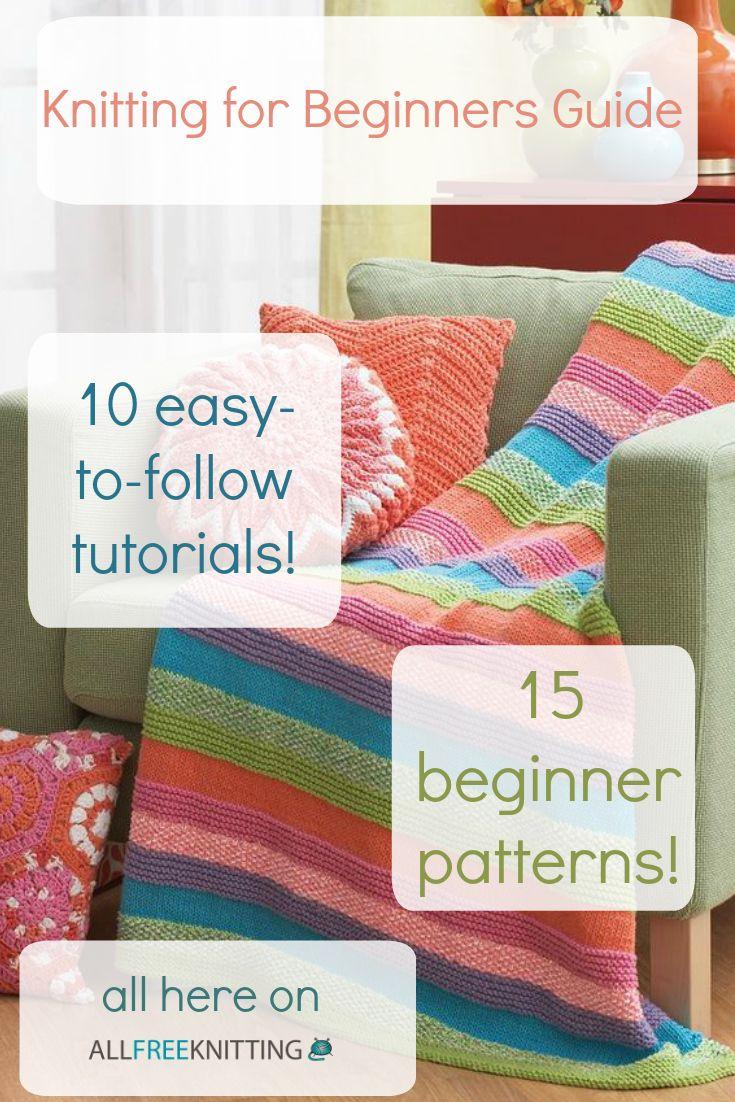 Knitting for Beginners: 50+ Easy Knitting Patterns | Stricken ...