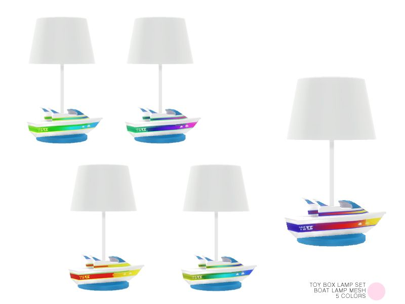 Boat Lamp Mesh by DOT of The Sims Resource  Found in TSR Category 'Sims 4 Table Lamps'