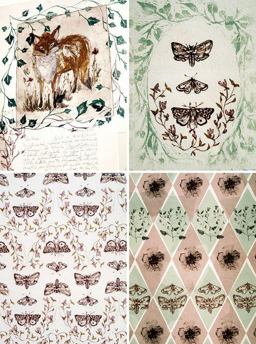 wallpaper foxes