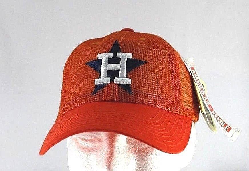 Details about Houston Astros Orange MLB Baseball Cap