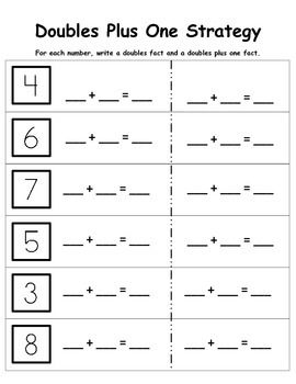 This worksheet was designed to provide extra practice on the doubles ...