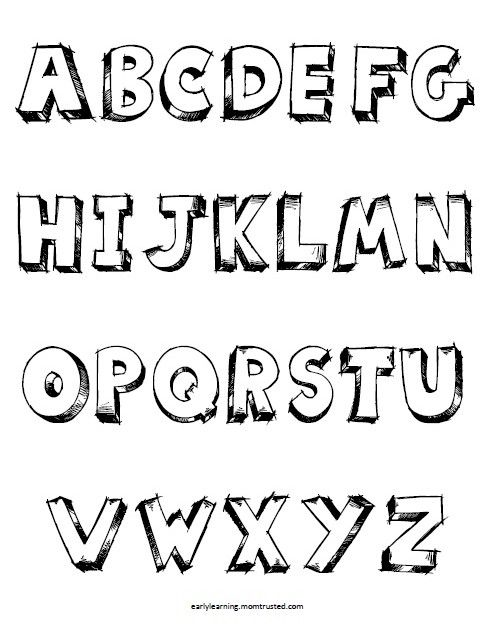 Alphabet Coloring Pages For Preschool Print These Scribble Block Letters For Your Toddler Or P Coloring Pages Alphabet Coloring Pages Letter A Coloring Pages