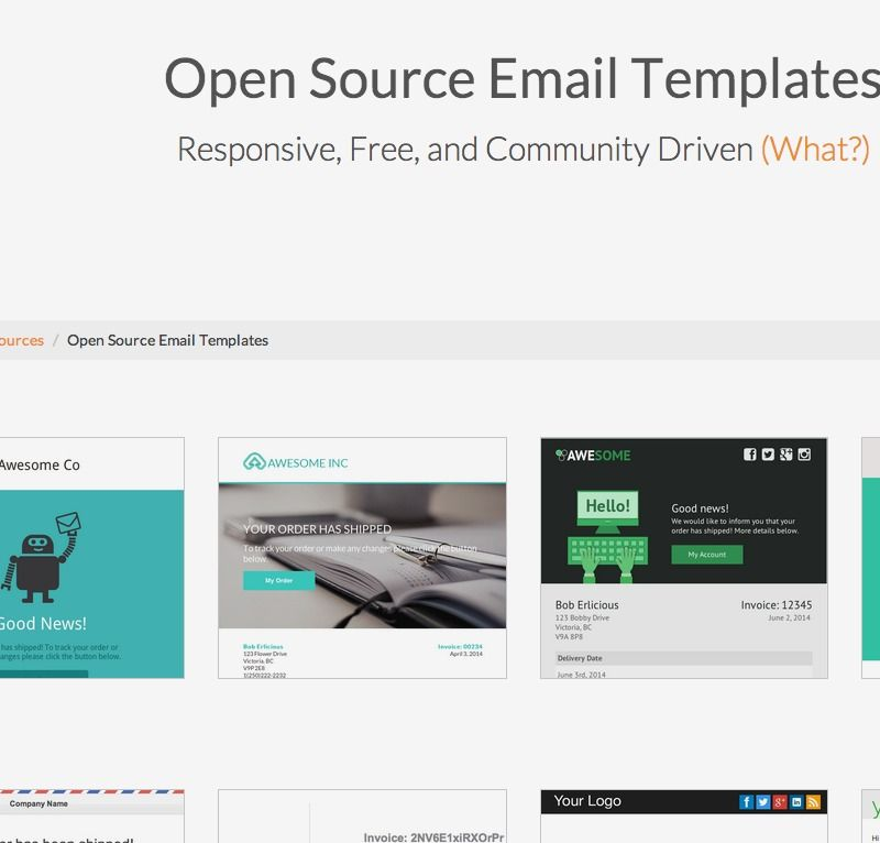 Open Source Email Templates Sendwithus Design Pinterest Template - Open source email templates