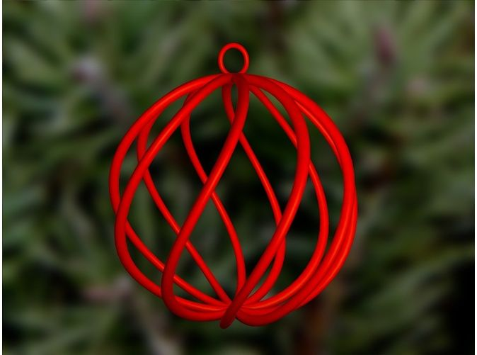 Spiral Christmas Ball Small By Dune Doree On Shapeways 3d Printed Objects 3d Pen Art 3d Printing Diy