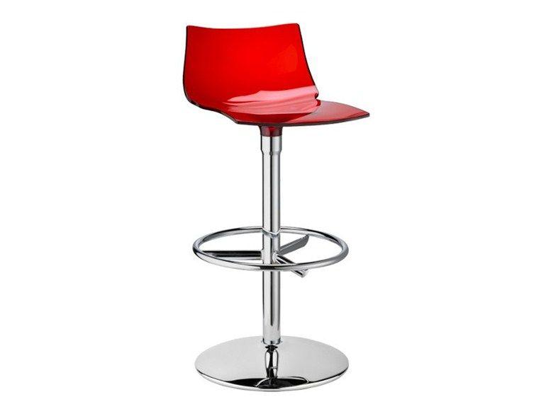 Sgabello da bar girevole day twist by scab design design luisa