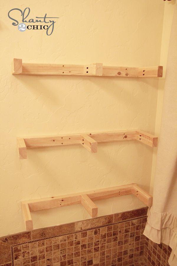 Easy DIY Floating Shelves - Floating Shelf Tutorial Video & Free ...