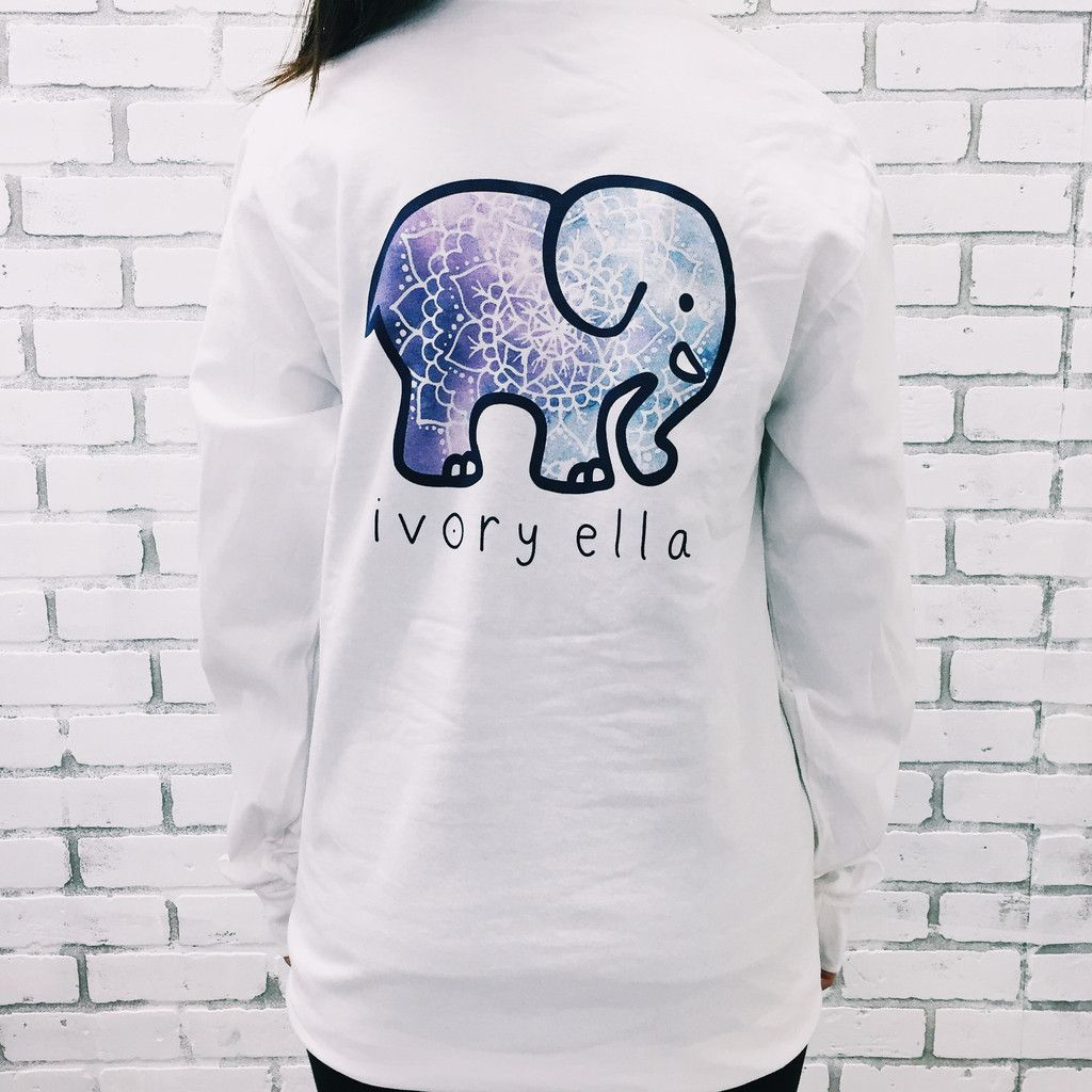 cfce44841879 Pocketed White Galaxy Mandala Print Ivory Ella long sleeve | Wishing ...