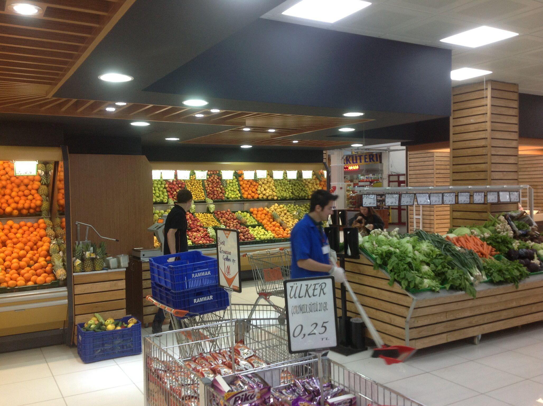 Supermarkets concept