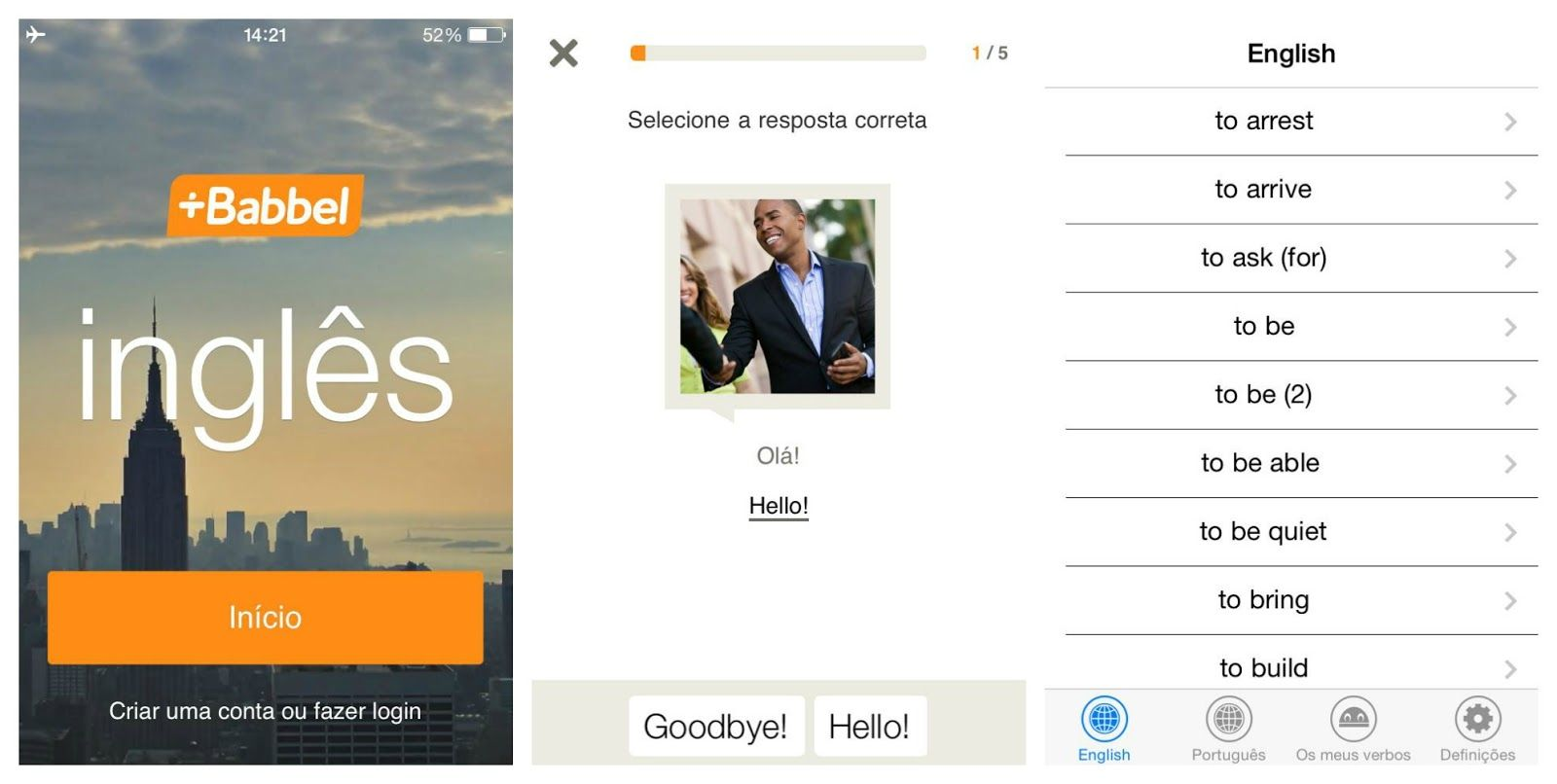 Babbel iPhone app Language learning apps