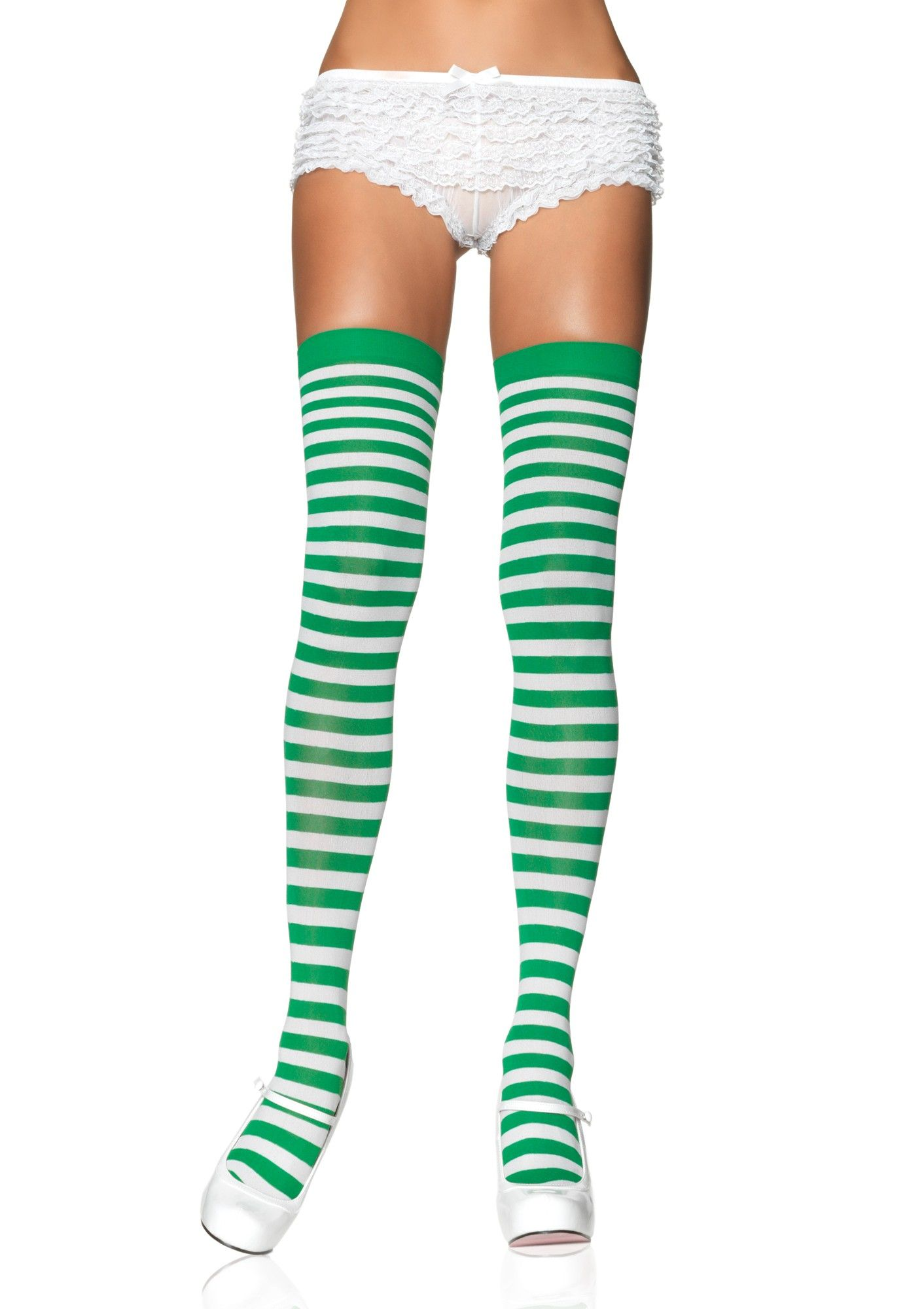 Nylon Striped Tights Assorted Colors