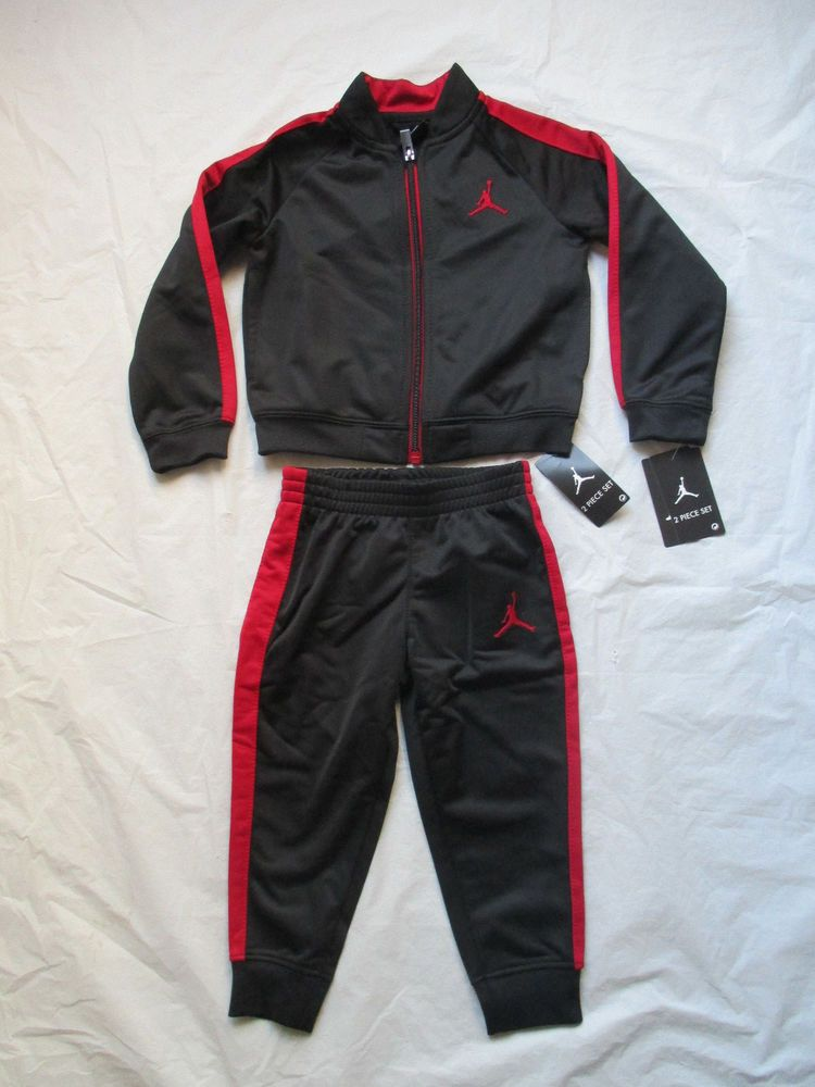b3c24258e0e307 Nike Boys Michael Jordan Black Red Tracksuit 2 Piece Set Size Newborn-5T  754352  NikeMichaelJordan  CasualFormalParty