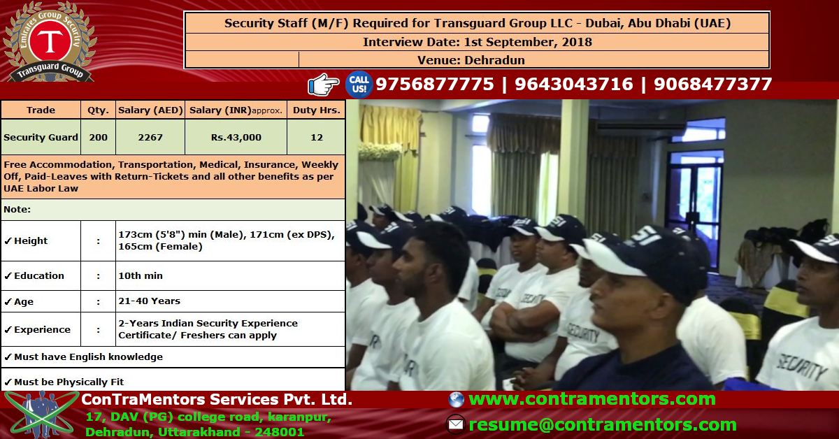 Golden Opportunity For Job Seekers Urgent Requirement Of Security