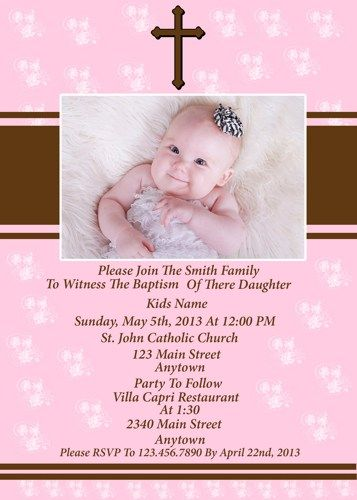BABY GIRL BAPTISM INVITATION | chloescards - Digital Art on ...