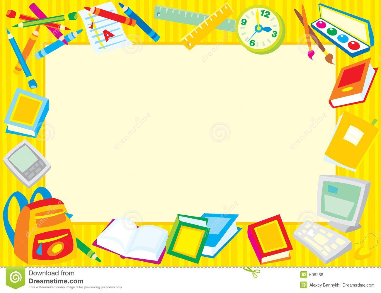Back To School Border Clip Art school borders clipart...