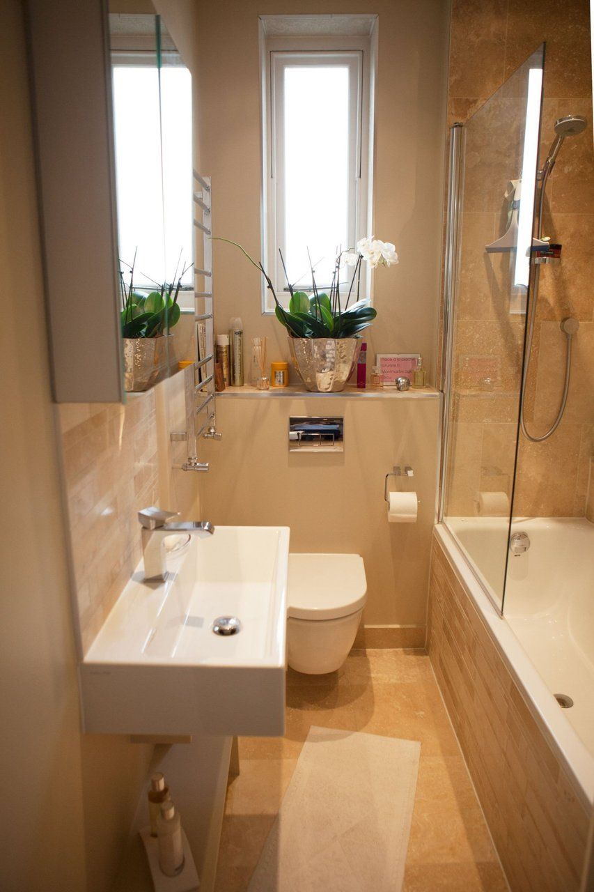 Ekaterina's Chic South London Space  Small Bathroom Layout Amusing Small Narrow Bathroom Decorating Design