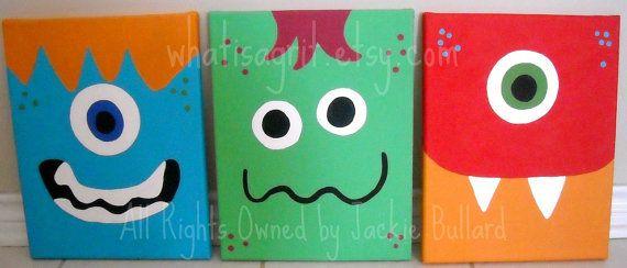 Canvas for kids' bathroom. Too cute!