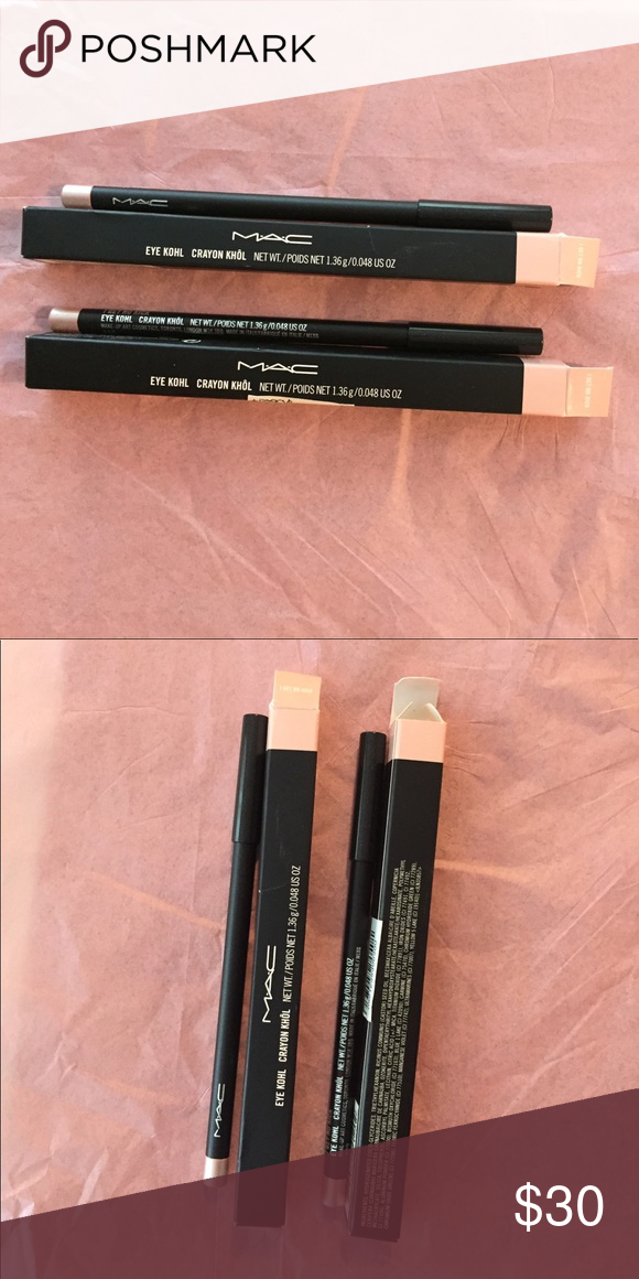MAC Cosmetics I Get No Kick TWO Eye Kohls NIB RARE MAC