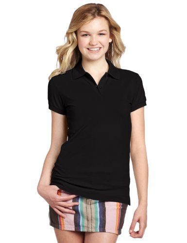 d1e51302a Dickies Juniors Short Sleeve Pique Polo Shirt, Black, Small Dickies Girl  http:/