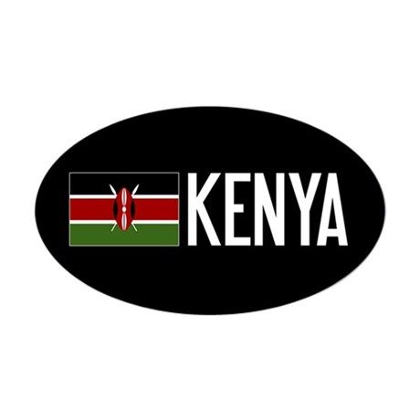 Kenya kenyan flag kenya sticker oval