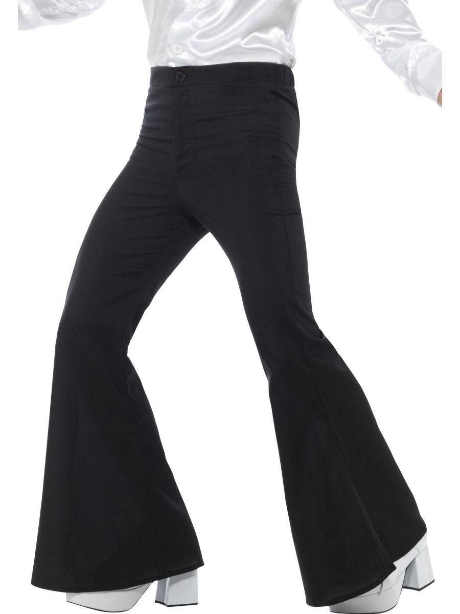 70-luvun miesten leveälahkeiset housut. Inspiroidu muodista, vetäise leveälahkeiset housut jalkaan, Voulez-Vous ja sitten baanalle!