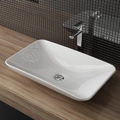 DESIGN KERAMIK AUFSATZWASCHBECKEN WASCHTISCH WASCHSCHALE - Waschtische Für Badezimmer