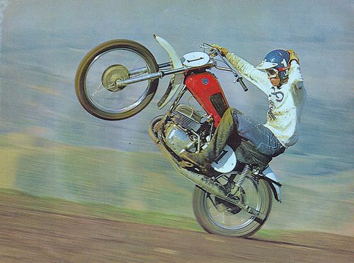 1973 Pete Maly -Dirt Bike Pic