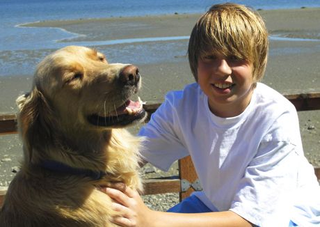 This Kid Really Did Rescue A Golden Retriever Very Courageous