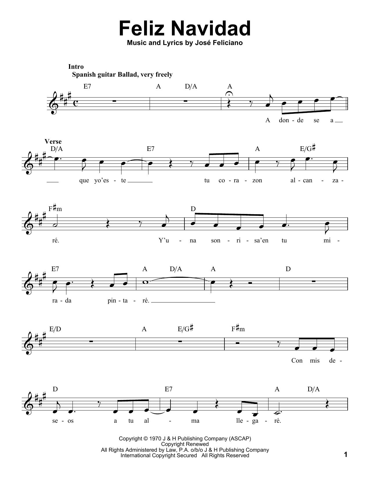 Michael Bublé Feliz Navidad 250583 in 2020 | Sheet music ...