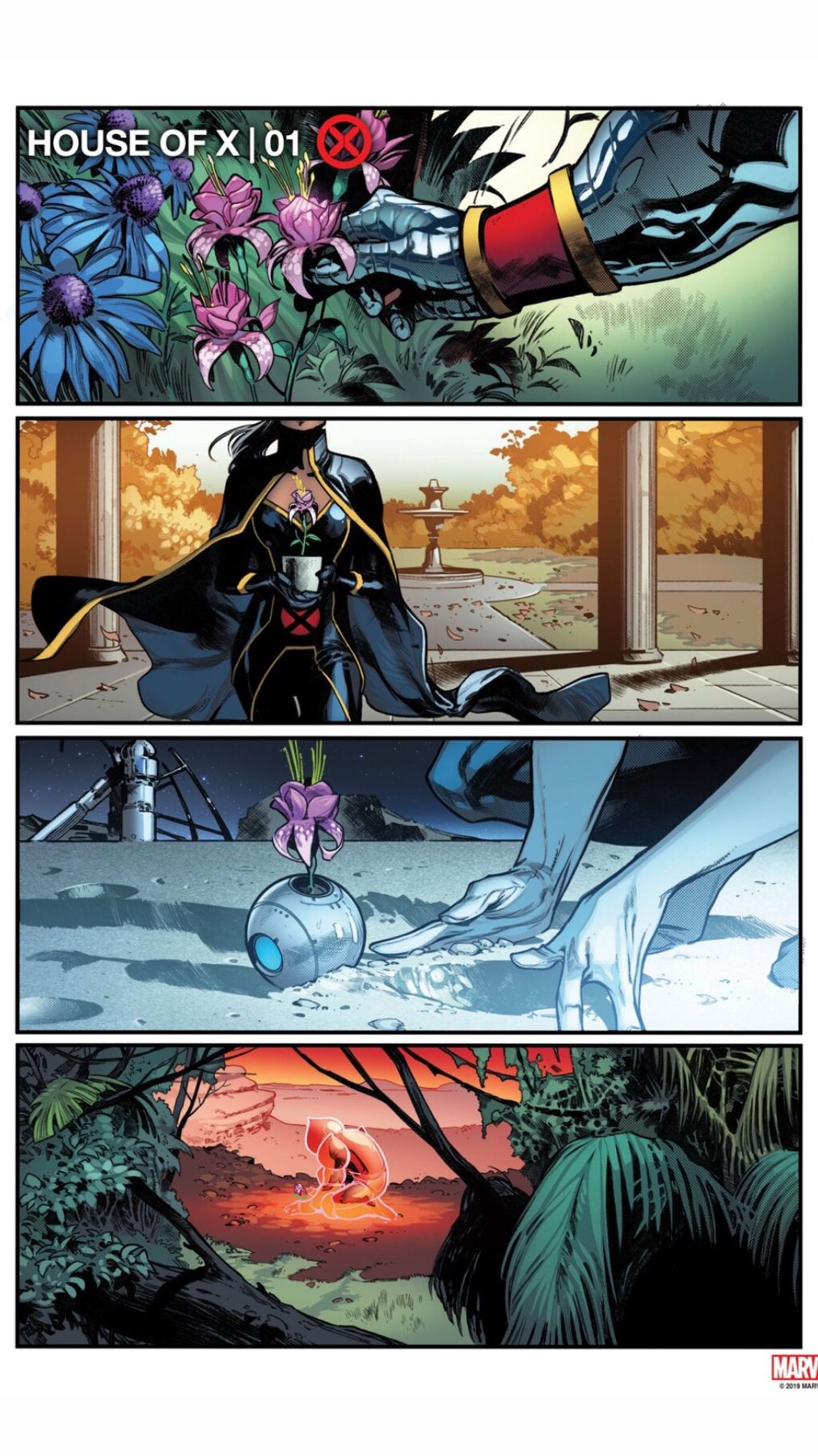 House Of X 1 Artwork Xmen Comics X Men Comic Book Layout