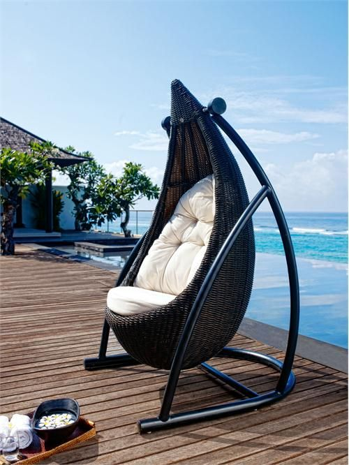 Contemporary Lounge Chair From Skyline Design   Tear Drop Hanging Chair